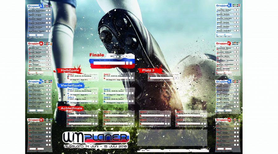 WM-Spielplan-Poster mit Tippmöglichkeit